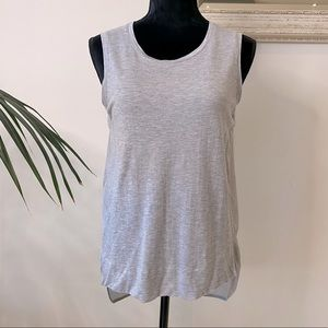Country Road Grey Cotton and Silk Top Size S